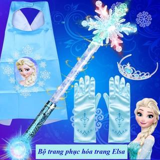 Bộ trang phục hóa trang cosplay Elsa cho bé yêu