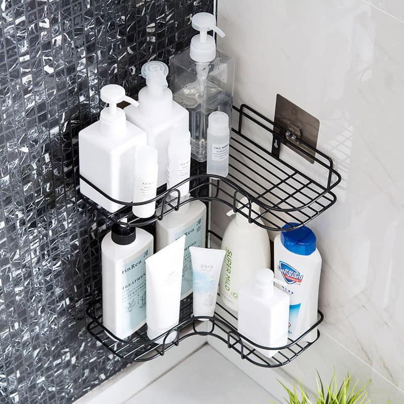 Mặc gì đẹp: Tắm biển vui với Kệ góc nhà tắm dán tường, Giá để đồ phòng tắm, Kệ để gia vị nhà bếp - Thép sơn tĩnh điện chống han rỉ
