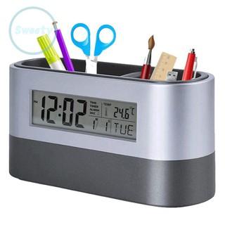 Đồng hồ tích hợp khay đựng bút có thể đo nhiệt độ tiện dụng