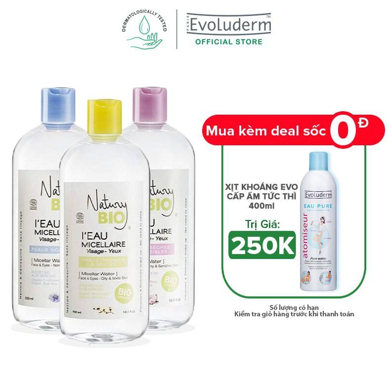 Nước tẩy trang hữu cơ Natury Bio 100% Organic làm sạch sâu deep cleaning even for skin 530ml