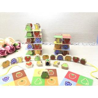 Fruit Tower – Luồn hạt và chơi xúc xắc xếp tháp