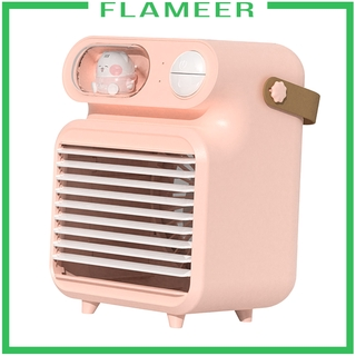 [FLAMEER]Air Conditioner Humidifier Fan 4000mAh with 150ml Ice Water Tank for Room