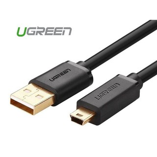 [Mã ELFLASH5 giảm 20K đơn 50K] Cáp USB 2.0 to USB Mini 3m mạ vàng Ugreen 10386
