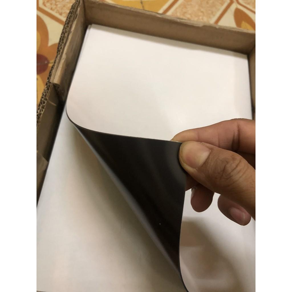 Nam châm dẻo tấm a4 0,5mm phủ keo dán