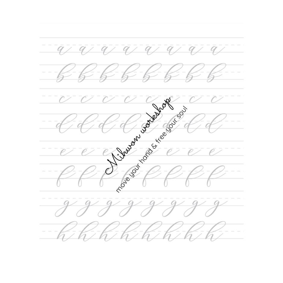140 TỜ - Combo 11 tập giấy luyện chữ CALLIGRAPHY - BRUSH LETTERING (bút lông) cho người mới học size A4 A5