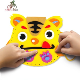☠ ready stock☠ Children DIY Cartoon Bags EVA Handmade Bag Kindergarten Craft Material Pack☠
