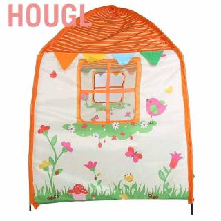 Hougl Portable Garden House Children Tent Outdoor Indoor Moveable Kids Playhouse