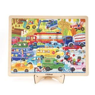 Bộ ghép hình gỗ Traffic puzzle của Mideer