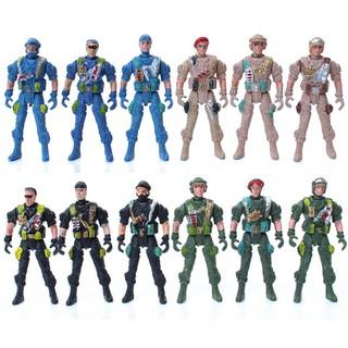 Playset Special Force Action Figures Kids Toys Plastic 9cm Soldier Men