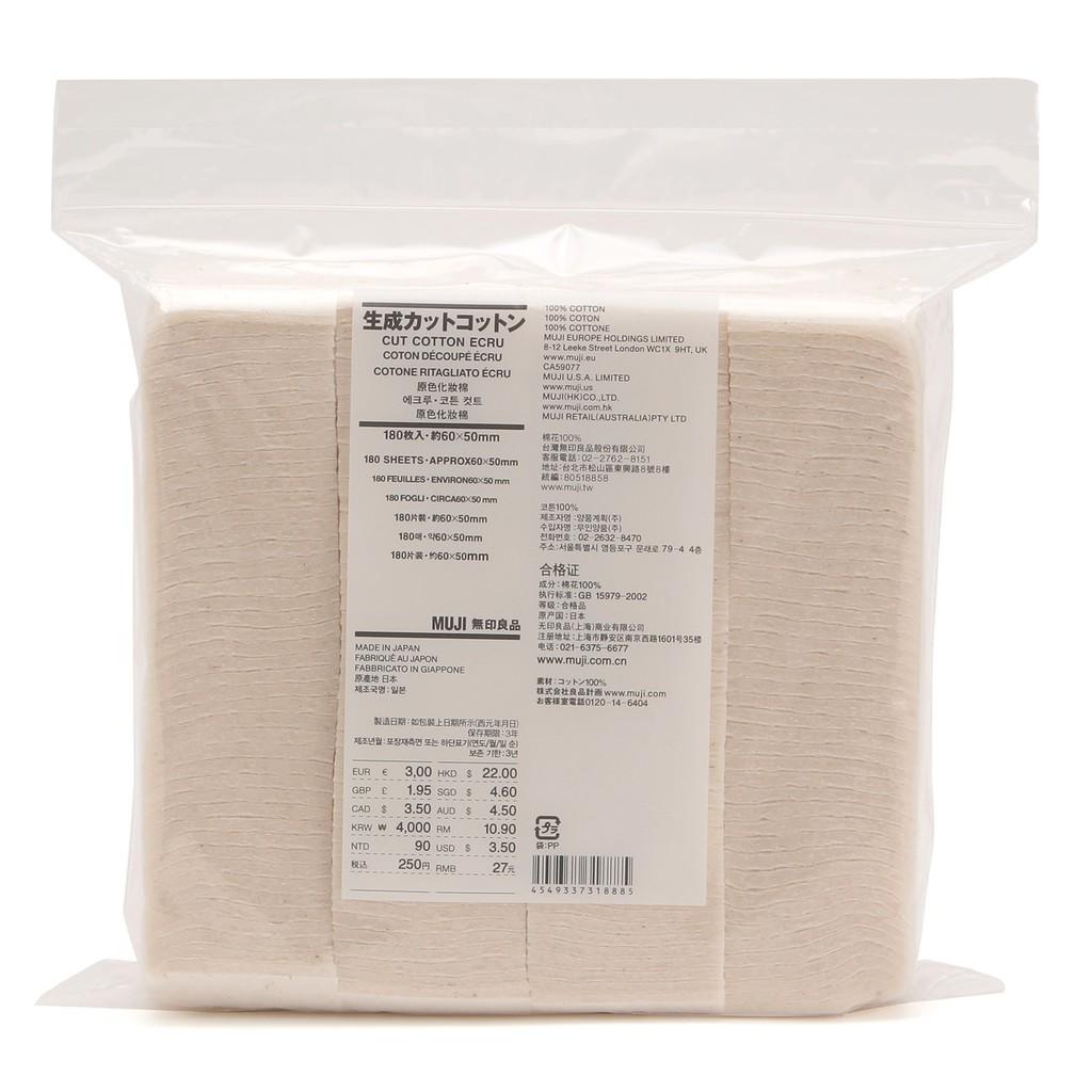 (Mới Về) Bông tẩy trang hữu cơ Muji Cut Cotton Ecru 180 miếng - 3235266 , 426221921 , 322_426221921 , 130000 , Moi-Ve-Bong-tay-trang-huu-co-Muji-Cut-Cotton-Ecru-180-mieng-322_426221921 , shopee.vn , (Mới Về) Bông tẩy trang hữu cơ Muji Cut Cotton Ecru 180 miếng