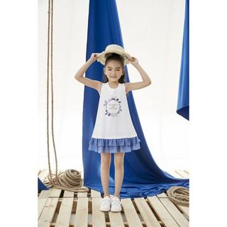 Đầm sát nách dáng suông cho bé gái Emspo  DS3708 GIÁ TỐT NHẤT (Vàng, Trắng)