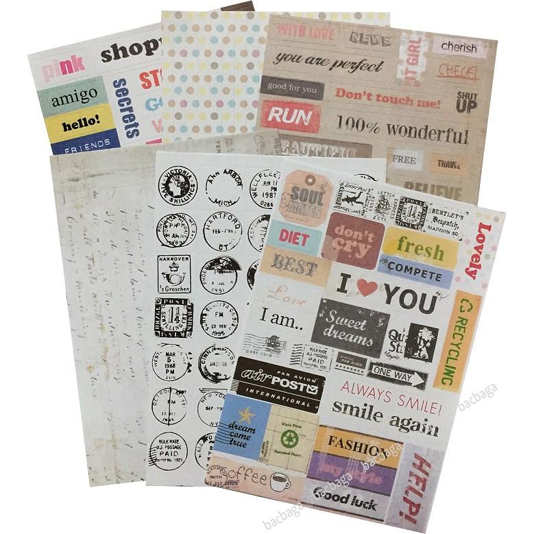 Sticker dán Message set 6 tờ