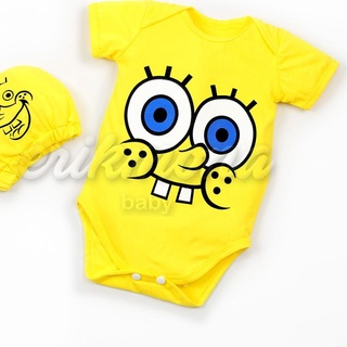Bộ đồ liền hình spongebob xinh xắn dễ thương cho bé