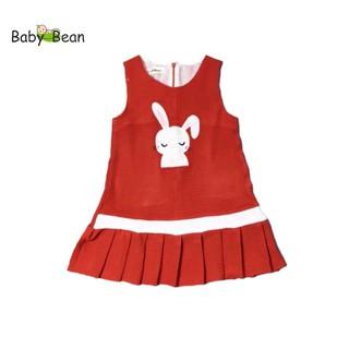 [MÃ THƯƠNG HIỆU YÊU THÍCH Voucher giảm 10%] Đầm Đũi Dập Ly thêu Hình Thỏ bé gái BabyBean