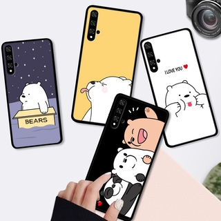 Huawei Nova 7i 5 4 5T 5I 4E Pro huawie For Soft Case Silicone Casing TPU Cute Cartoon We Bare Bears Phone Full Cover Simple Macaron Matte Shockproof Back Cases