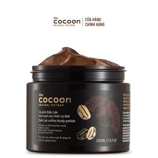 Tẩy da chết cơ thể cà phê Đắk Lắk Cocoon cho làn da mềm mại và rạng rỡ 200ml