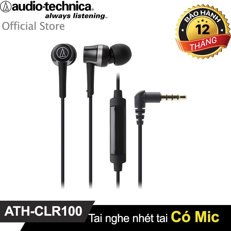 Tai nghe Audio Technica nhét tai chuyên nghiệp có mic ATH-CKR30iS (Bạc)