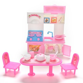20 Pcs/lot Creative Kitchenware Dinner Tables Cupboard Sink for Barbies Dolls