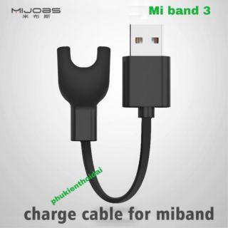 Dây Sạc Xiaomi Mi Band 3 Mi Band 4 Miband 2 hiệu Mijobs cao cấp (tốt xêm xêm dây gốc) thumbnail