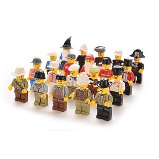 Specialhour 20 Pcs Minifigures Men People Minifigs Grab Bag gift Random Figures Kids Toys