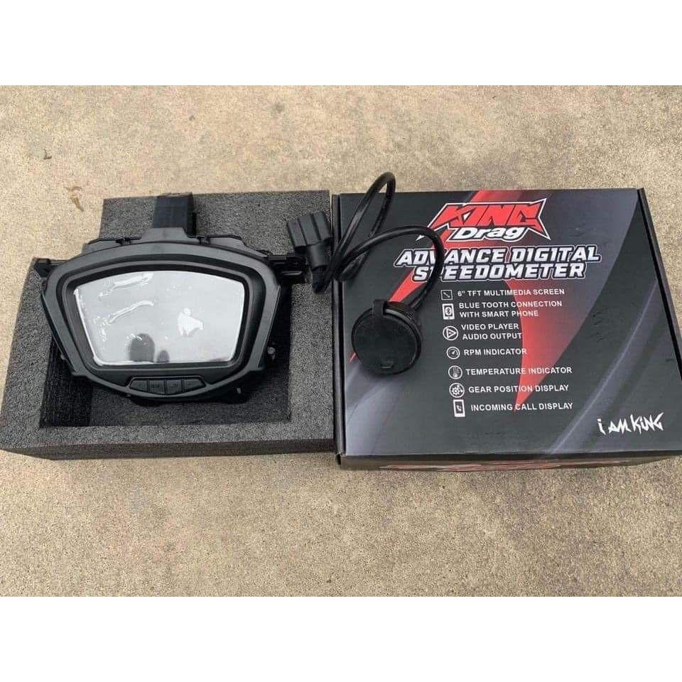 Đồng Hồ Exciter 150 MxKing KingDrag Lavito full LCD xem phim, kết nối bluetooth , điện thoại. DoChoiXeMay