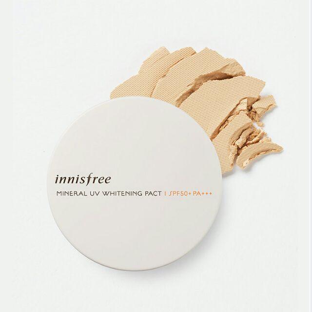 Phấn nén làm sáng da Innisfree – Mineral UV Whitening Pact SPF50 PA+++