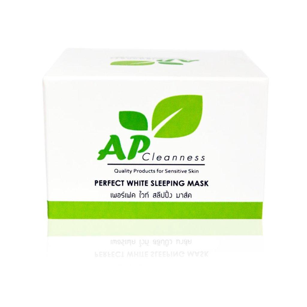 AP Cleanness Perfect White Sleeping Mask มาส์กหน้าขาวใส ขนาด 30 กรัมP Cleanness Perfect White Sleeping Mask มาส์กหน้าขาว