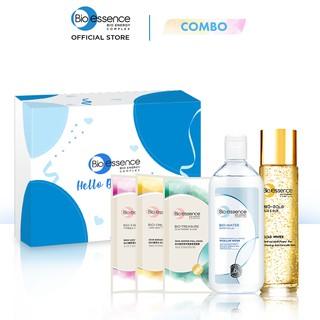 Bộ sản phẩm Bio-Essence (Nước dưỡng Bio-Gold 150ml Mặt nạ Jeju Mặt nạ Yuzu Mặt nạ mẫu đơn 20ml Tẩy trang 100ml)