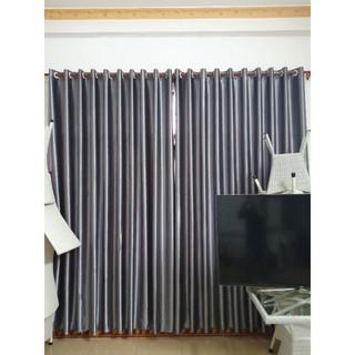 Loại 1 [Xám ghi sang trọng] Rèm cửa sổ chống nắng 98% giá gốc tại xưởng trang trí phòng và nội thất