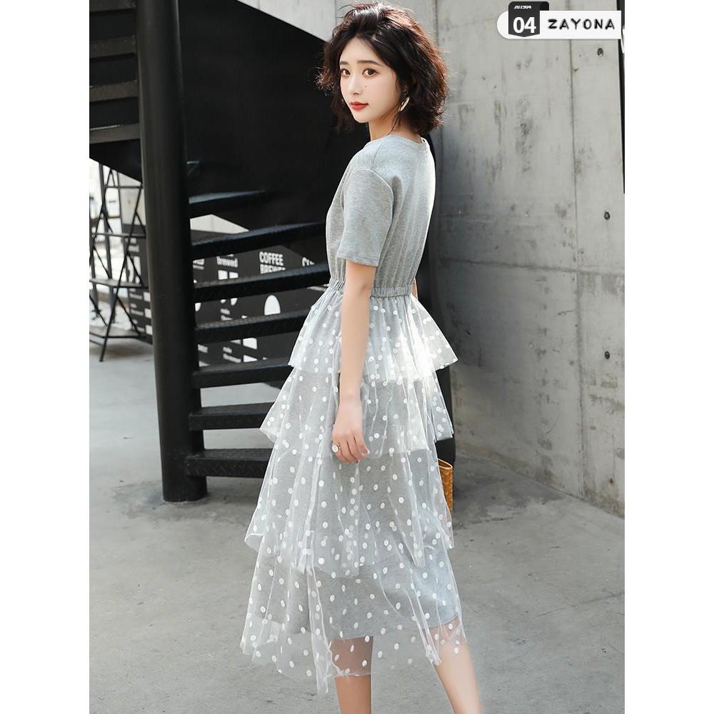 Đầm suông váy lưới dáng dài váy nữ dài 2019 hè mới phổ biến thời trang nữ váy hè