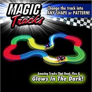 Magic Tracks Led Racing Car Assembly Toy 165pcs Race Track + 1pc LED Car