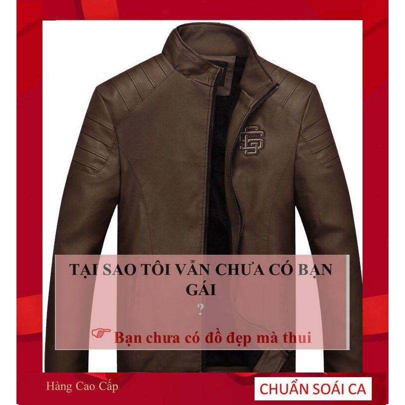 Mẫu Áo Khoác Da Hàn Quốc Cao Cấp,áo khoác da nam mẫu mới