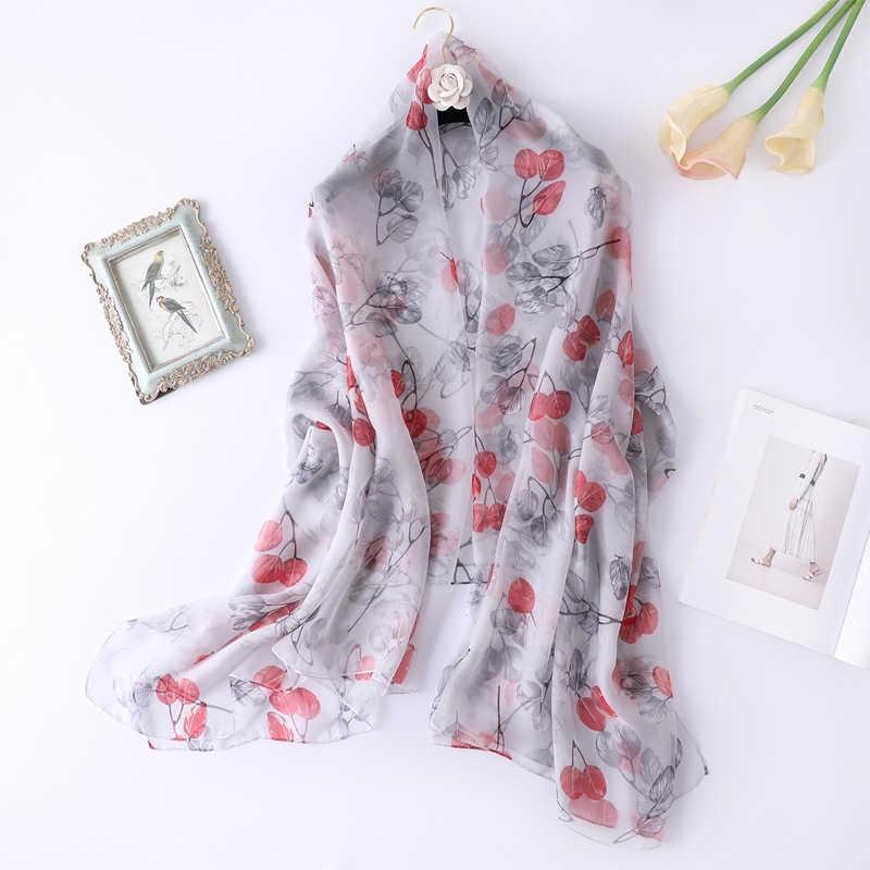 jiangnan สาขาใบบางผ้าขนหนูชายหาดผ้าพันคอผ้าคลุมไหล่สตรียาวพิมพ์ของแข็งสี