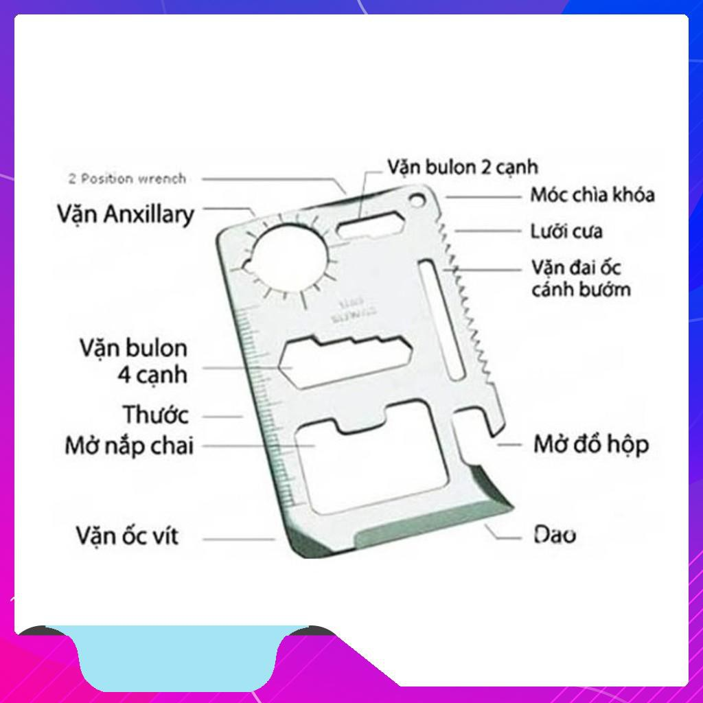 HoT Móc khóa miếng thép đa năng 12 công dụng Rẽ   Shopee Việt Nam
