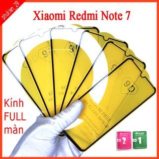 Kính cường lực Xiaomi redmi note 7 full màn hình, Ảnh thực shop tự chụp, tặng kèm bộ giấy lau kính taiyoshop2 thumbnail