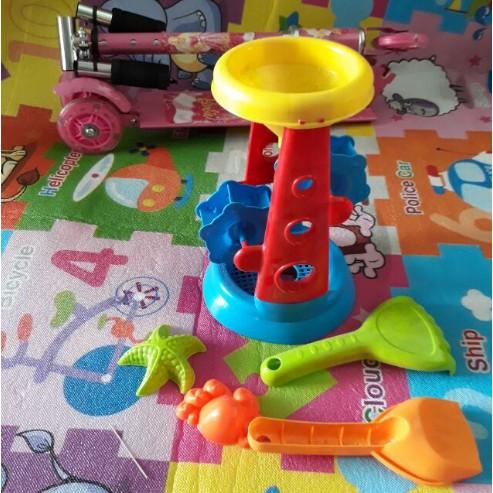 Combo đồ chơi xúc cát 3 gồm 1 bể phao 168cm + 10 kg hạt muồng + 2 bộ đồ...