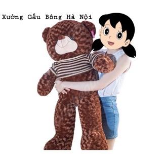 Gấu Bông Teddy 1m4 Khổ Vải HÀNG CHUẨN LOẠI 1 cao 1m2 (Giá Huỷ Diệt)