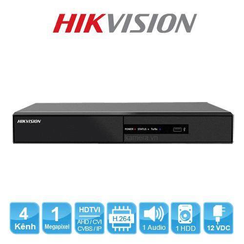Đầu ghi hình HD-TVI 4 kênh TURBO 3.0 HIKVISION DS-7204HGHI-F1(S)