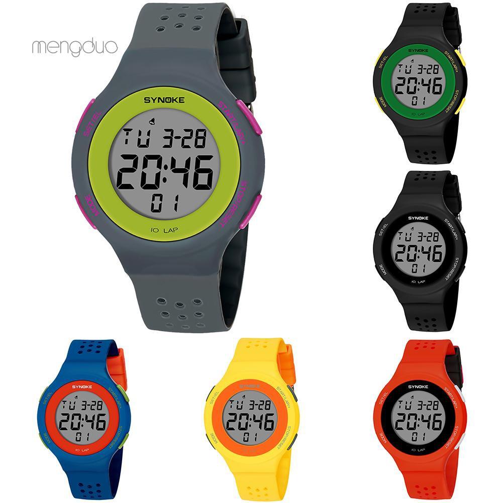 Đồng hồ đeo tay kỹ thuật số phong cách thể thao cho trẻ em
