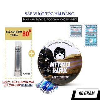 [CHÍNH HÃNG] [Tặng Gôm] Sáp vuốt tóc Apestomen Nitro Wax Singapore 80ml V4 năm 2020 + Tặng 1 Gôm Butterfly 320ml
