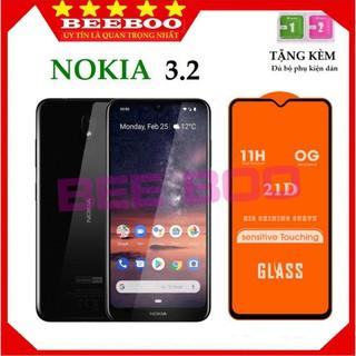 Kính Cường Lực Nokia 3.2 – Cao Cấp – Full màn hình 21D – Độ cứng 11H – Độ trong suốt cực cao [FreeShip_50K]