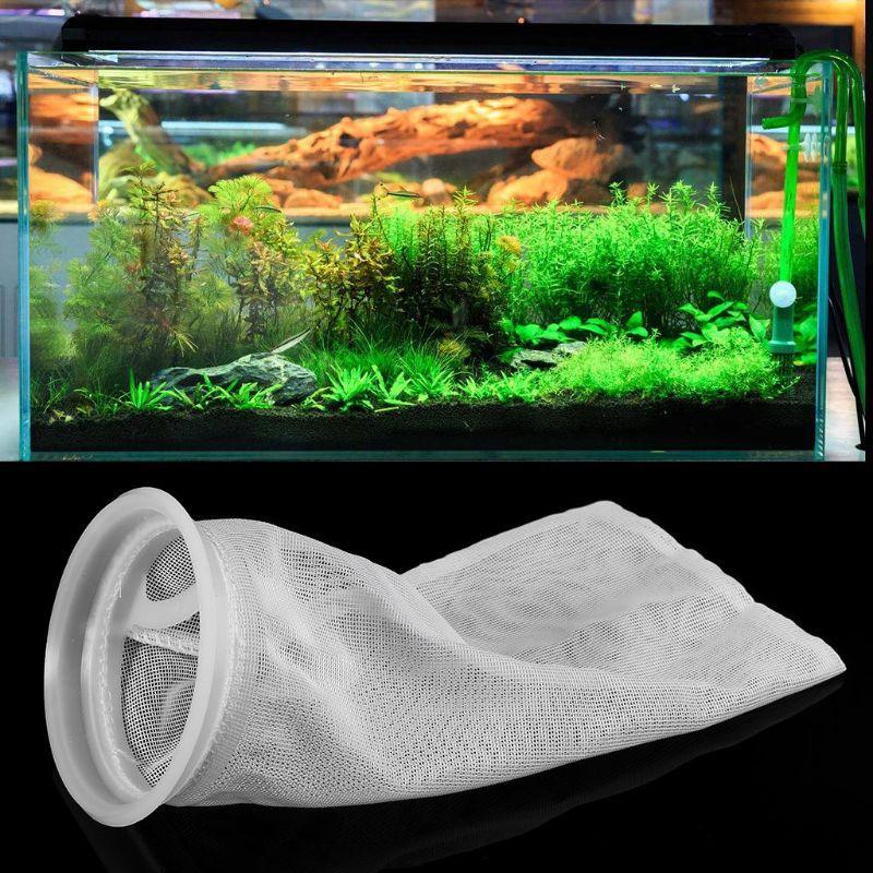 yal❤ Aquarium Filter Sump Sock Mesh Net Bag Replacement Filter Bag Fish Tank Accessories