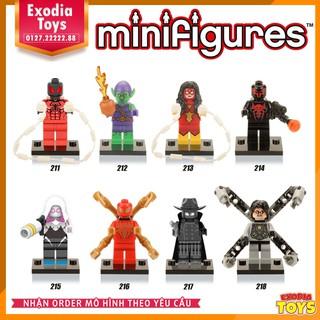 Bộ 8 minifigure nhân vật siêu anh hùng – X0107