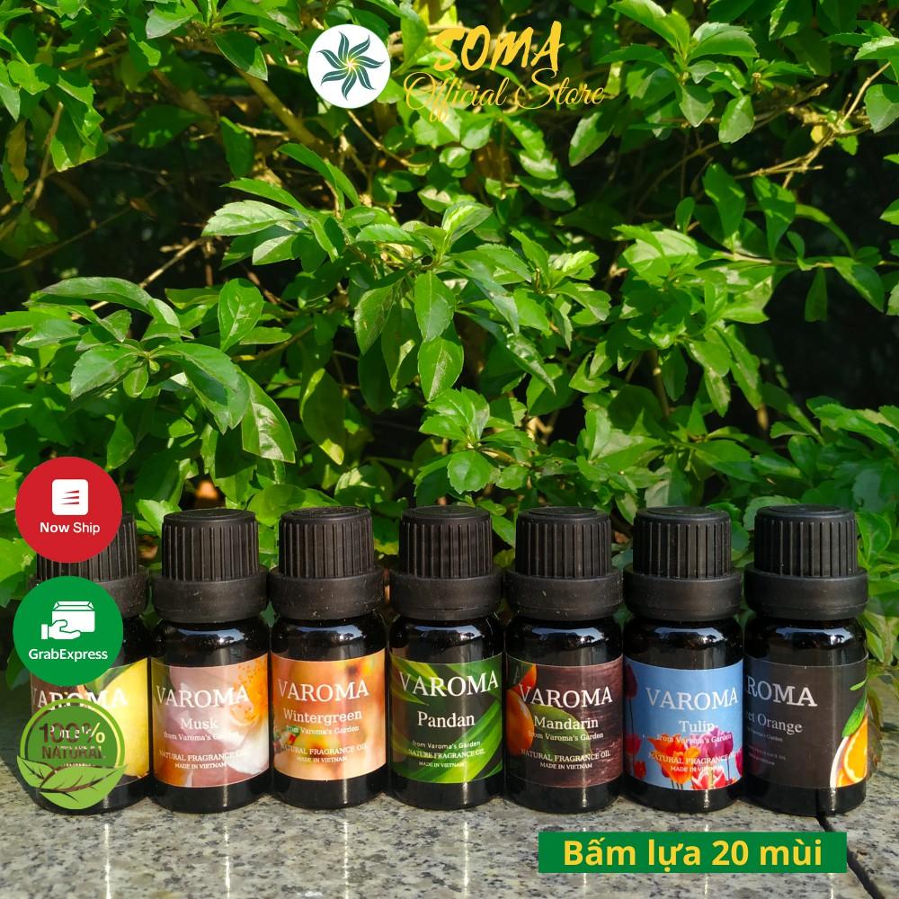 Tinh dầu thiên nhiên Varoma nguyên chất I Tinh dầu thơm phòng I Tinh dầu đuổi muỗi I Có kiểm định CoA
