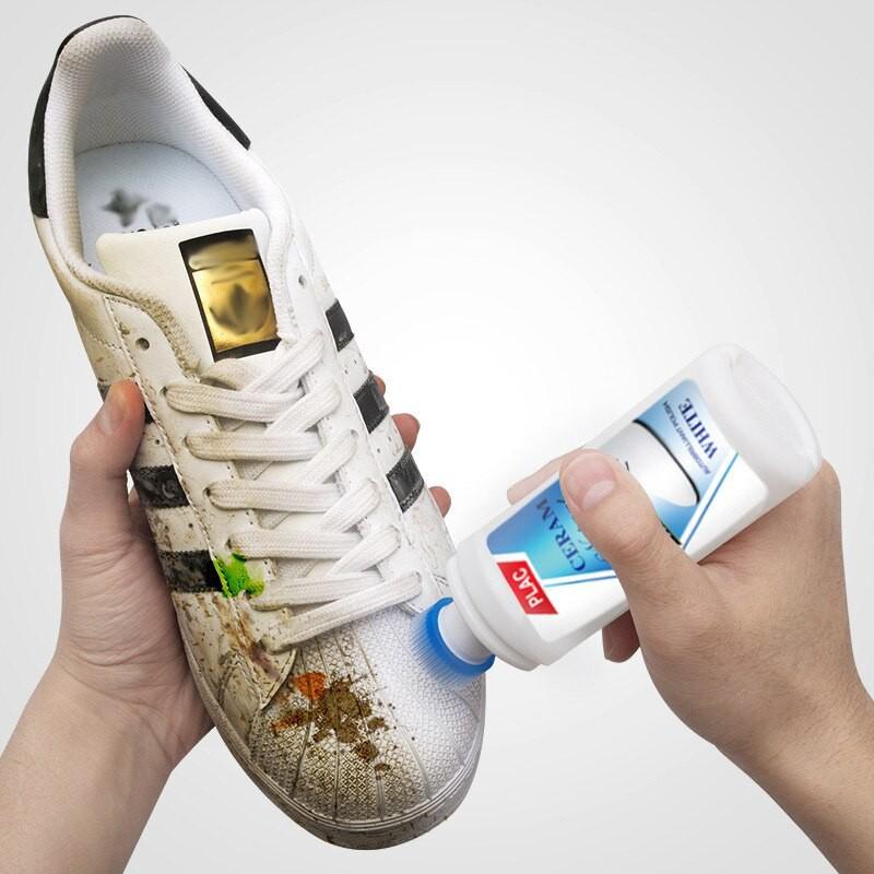Vệ sinh giày Giadungbpm Dung dịch vệ sinh giày Plac kèm bàn chải ở đầu