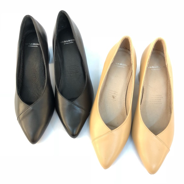 Giày công sở Vagabond 5cm gót vuông mũi nhọn