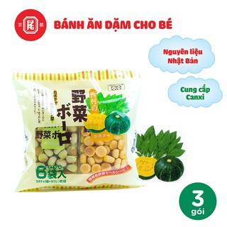 Bánh ăn dặm trẻ em hình viên rau quả vị bí đỏ và vị cải bó xôi Boro 20g 6 gói thumbnail