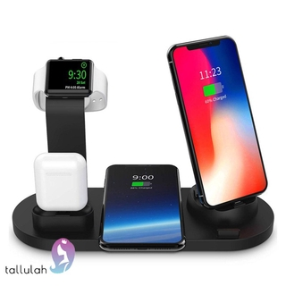 3 in 1 QI Wireless Charger Charging Dock for iphone X XS MAX XR 8 Plus USB 10W Fast Charging Stand for Apple Watch Airpods