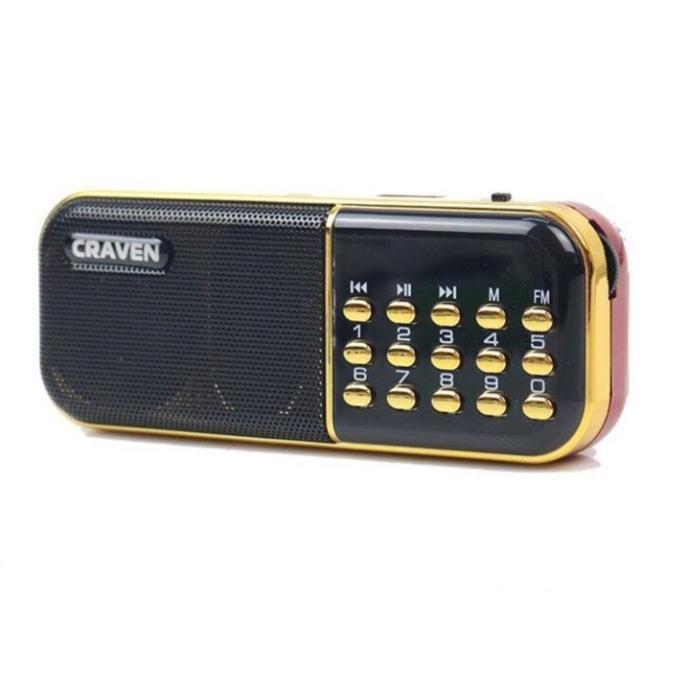 Loa nghe nhạc thẻ nhớ USB Radio mini nghe đài nghe kinh phật Craven Cr-25A,  Giá tháng 11/2020