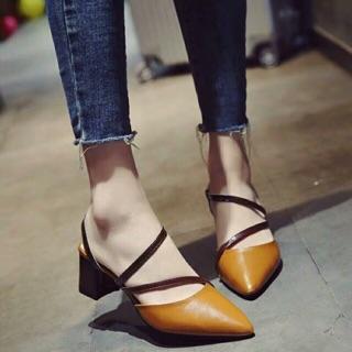 Giày nữ-cao gót phối dây chéo NT57